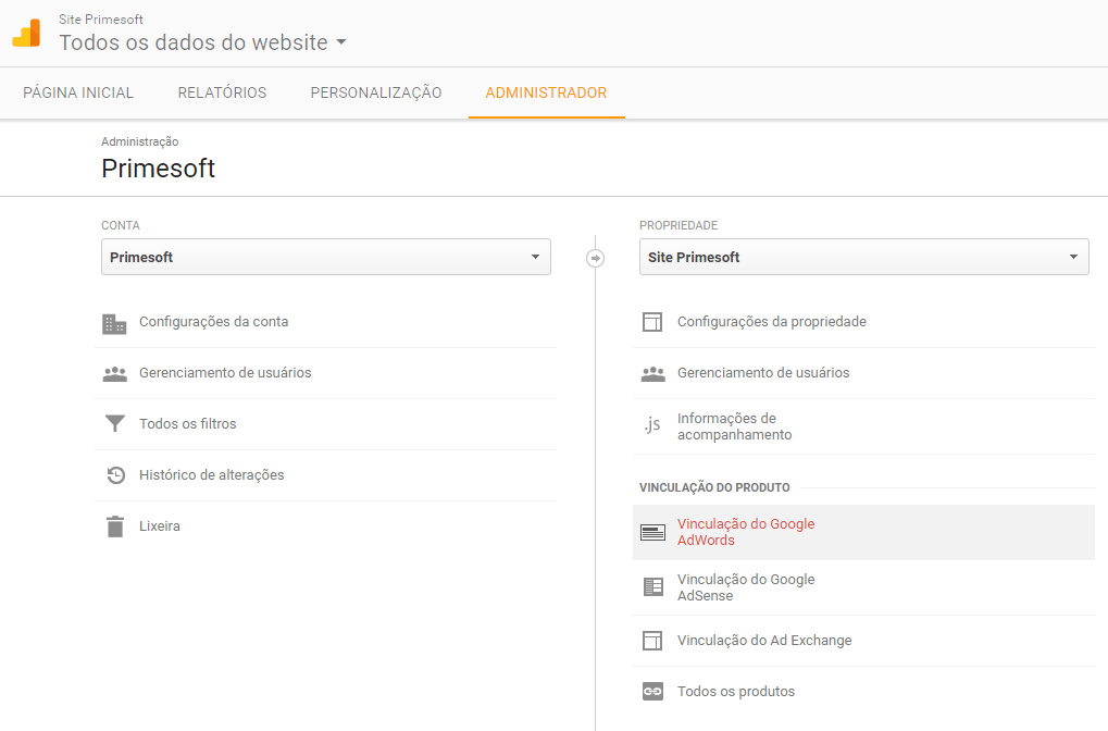 Vincule o AdWords ao seu Google Analytics