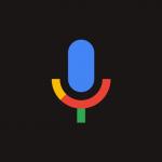 Ícone da pesquisa por comando de voz